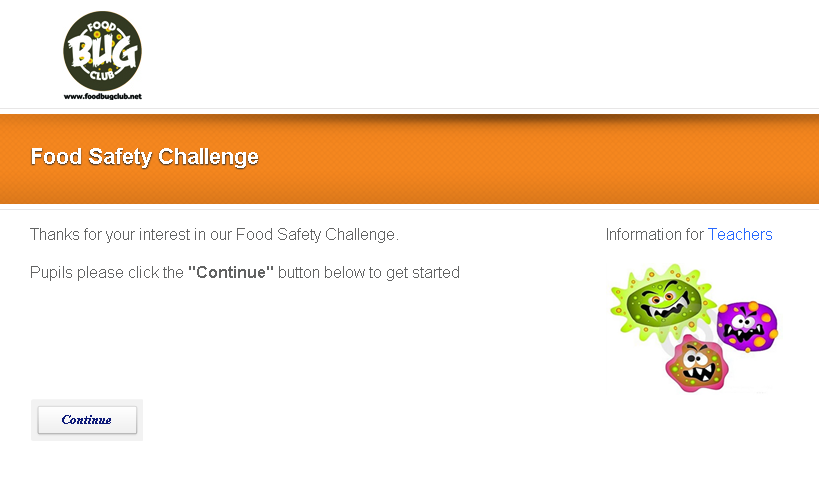 Food safety challenge screenshot